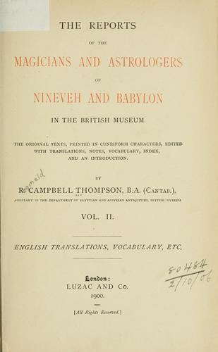 File:The Reports of the Magicians and Astrologers of Nineveh and Babylon in the British Museum. Vol. 2.jpg